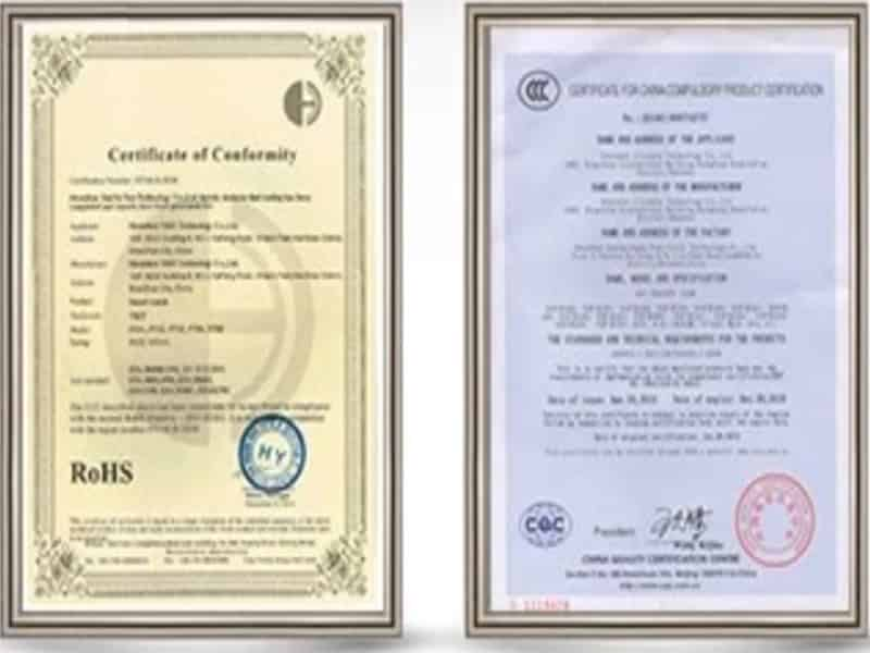 giấy chứng nhận sản phẩm chất lượng evo