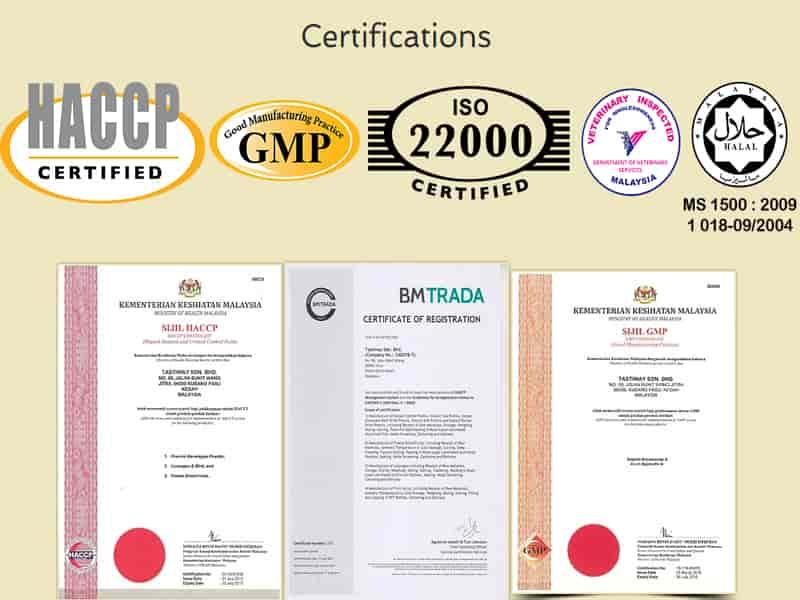 giấy chứng nhận sản phẩm đạt chất lượng