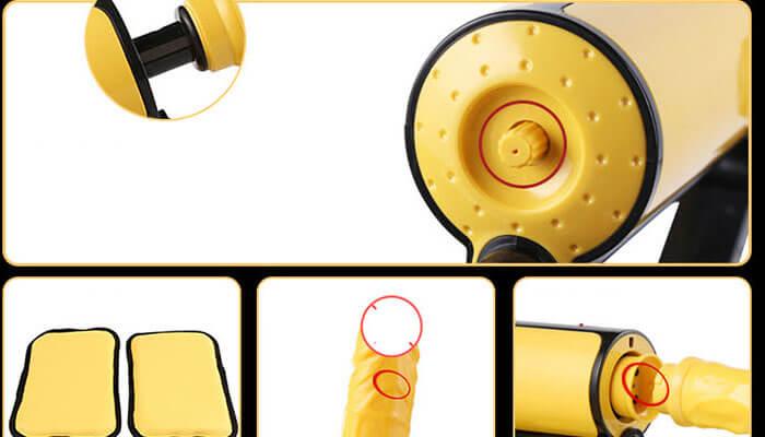 Đồ Chơi Người Lớn Dành Cho Nữ Yellow - Máy Làm Tình Rung Thụt 04