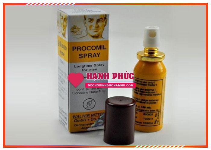 Thuốc xịt kéo dài thời gian quan hệ Procomil Spray chống xuất tinh sớm 3